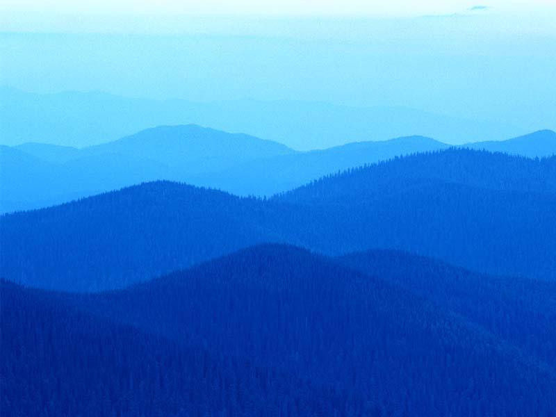 Blauwe heuvels